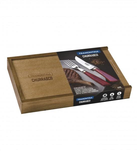 Steakbesteck-Set, 4-tlg. (geschmiedet) PAMPAS FSC