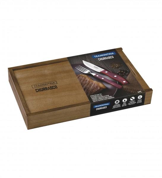 Steakbesteck-Set, 4-tlg. (Full Tang) RIO GRANDE FSC